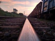 Όμορφο σύννεφο διαδρομής σιδηροδρόμων στοκ φωτογραφία με δικαίωμα ελεύθερης χρήσης