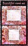 Όμορφο σύνολο καρτών 2 κομματιών απεικόνιση αποθεμάτων