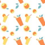 Όμορφο σύνολο σχεδίων με το κίτρινα, πορτοκαλιά ποτό και τα φρούτα με τα φύλλα στο άσπρο υπόβαθρο διανυσματική απεικόνιση