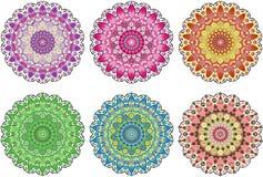 Όμορφο σύνολο mandala Στοκ εικόνες με δικαίωμα ελεύθερης χρήσης