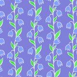 Όμορφο σύνολο λουλουδιών, διανυσματικό άνευ ραφής σχέδιο Στοκ Εικόνα
