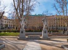 Όμορφο τετράγωνο στη Μαδρίτη - Plaza de Oriente στη Royal Palace Στοκ φωτογραφίες με δικαίωμα ελεύθερης χρήσης