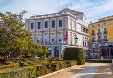 Όμορφο τετράγωνο στη Μαδρίτη - Plaza de Oriente στη Royal Palace Στοκ Εικόνες