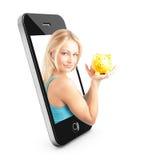 όμορφο τηλέφωνο έννοιας έξ&upsil Στοκ Εικόνα