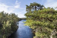 Όμορφο τοπίο από την κορυφή του λόφου Στοκ Εικόνες
