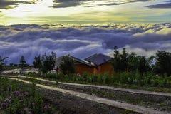 Όμορφο τοπίο βουνών σε Phutabberk Phetchabun, Ταϊλάνδη Στοκ Εικόνα