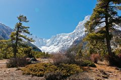 Όμορφο τοπίο βουνών στο Νεπάλ στοκ φωτογραφίες με δικαίωμα ελεύθερης χρήσης