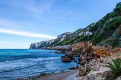 Όμορφο τοπίο ενός απότομου βράχου στοκ φωτογραφίες