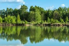 Όμορφο τοπίο λιμνών Στοκ φωτογραφίες με δικαίωμα ελεύθερης χρήσης
