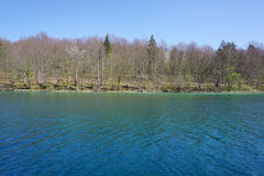 Όμορφο τοπίο κατά μήκος του τρόπου στο εθνικό πάρκο λιμνών Plitvice Στοκ εικόνες με δικαίωμα ελεύθερης χρήσης