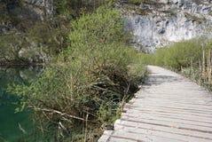Όμορφο τοπίο κατά μήκος του τρόπου στο εθνικό πάρκο λιμνών Plitvice Στοκ Φωτογραφία