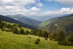 Όμορφο τοπίο, καταλανικά Πυρηναία στοκ εικόνες