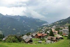 Όμορφο τοπίο κοντά σε Lauterbrunnen, Ελβετία Στοκ Εικόνα