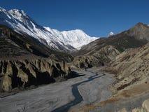 Όμορφο τοπίο κοντά σε Manang, Νεπάλ Στοκ Φωτογραφίες