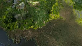 Όμορφο τοπίο με έναν κηφήνα Στοκ Εικόνα