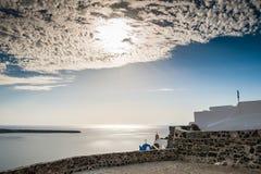 Όμορφο τοπίο με την άποψη θάλασσας Στοκ Εικόνες