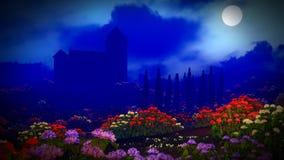 όμορφο τοπίο λουλουδιών Στοκ εικόνα με δικαίωμα ελεύθερης χρήσης