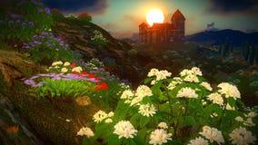όμορφο τοπίο λουλουδιών Στοκ φωτογραφία με δικαίωμα ελεύθερης χρήσης
