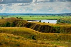 Όμορφο τοπίο σε Konstantinovo, Ρωσία - ο τόπος γεννήσεως του ρωσικού ποιητή Sergei Yesenin Στοκ Εικόνες