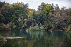 Όμορφο τοπίο στην Κροατία, λίμνες Plitvice στοκ εικόνα με δικαίωμα ελεύθερης χρήσης