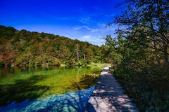 Όμορφο τοπίο στις λίμνες Plitvice στην Κροατία Στοκ εικόνες με δικαίωμα ελεύθερης χρήσης
