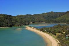 Όμορφο τοπίο στο εθνικό πάρκο του Abel Tasman Στοκ Φωτογραφία