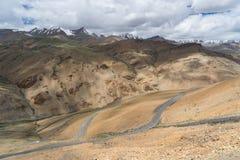 Όμορφο τοπίο της εθνικής οδού Manali Leh, Leh, Ladakh, Ινδία Στοκ Φωτογραφία