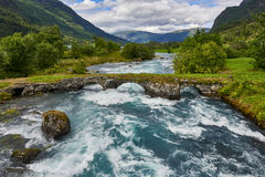 Όμορφο τοπίο της Νορβηγίας, Σκανδιναβία, φύση στοκ φωτογραφίες