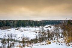 Όμορφο τοπίο τον πρώιμο χειμώνα Στοκ φωτογραφίες με δικαίωμα ελεύθερης χρήσης