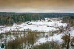 Όμορφο τοπίο τον πρώιμο χειμώνα Στοκ Φωτογραφίες