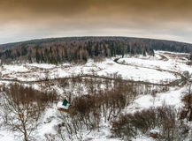 Όμορφο τοπίο τον πρώιμο χειμώνα Στοκ εικόνα με δικαίωμα ελεύθερης χρήσης