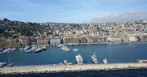 Όμορφο τοπίο του Βεζουβίου, Νάπολη, Ιταλία απόθεμα βίντεο