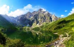 Όμορφο τοπίο των βουνών Tatra και του ματιού της θάλασσας Στοκ φωτογραφία με δικαίωμα ελεύθερης χρήσης