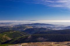 Όμορφο τοπίο φθινοπώρου, βουνά Karkonosze, Πολωνία Στοκ εικόνες με δικαίωμα ελεύθερης χρήσης