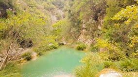 Όμορφο τοπίο φύσης σε Polilimnio στην Πελοπόννησο στην Ελλάδα στοκ φωτογραφίες