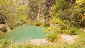 Όμορφο τοπίο φύσης σε Polilimnio στην Πελοπόννησο στην Ελλάδα στοκ φωτογραφία με δικαίωμα ελεύθερης χρήσης