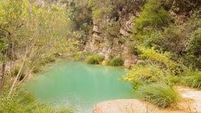 Όμορφο τοπίο φύσης σε Polilimnio στην Πελοπόννησο στην Ελλάδα στοκ εικόνα