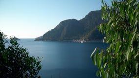 Όμορφο τουρκικό τοπίο θάλασσας και βουνών κοντά σε Marmaris απόθεμα βίντεο