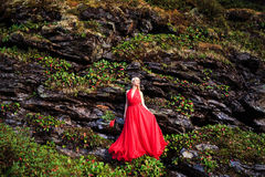 όμορφο τρίχωμα κοριτσιών μακρύ Στοκ Εικόνες
