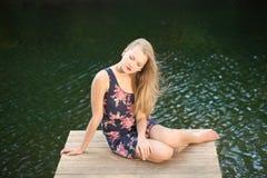 όμορφο τρίχωμα κοριτσιών μ&alpha Στοκ Εικόνα
