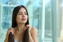 όμορφο τρίχωμα κοριτσιών ο Στοκ εικόνα με δικαίωμα ελεύθερης χρήσης