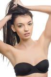 όμορφο τρίχωμα κοριτσιών brunette & Πορτρέτο ομορφιάς στοκ εικόνες με δικαίωμα ελεύθερης χρήσης