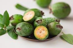 Όμορφο τροπικό feijoa φρούτων υγιής χορτοφάγος τροφίμων Στοκ εικόνα με δικαίωμα ελεύθερης χρήσης