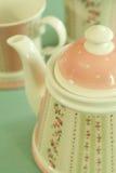 όμορφο τσάι υπηρεσιών δια&kap Στοκ Εικόνα