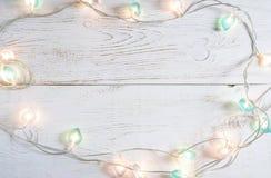 Όμορφο υπόβαθρο διακοπών Χριστουγέννων με τα μαλακά φω'τα Στοκ φωτογραφίες με δικαίωμα ελεύθερης χρήσης