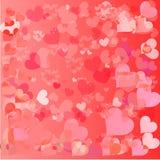 Όμορφο υπόβαθρο ημέρας βαλεντίνων με τις διακοσμήσεις και την καρδιά. διανυσματική απεικόνιση