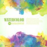 Όμορφο υπόβαθρο θερινού Watercolor χρώματα τροπικά Στοκ Φωτογραφίες