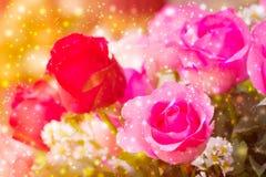 Όμορφο υπόβαθρο με τα τριαντάφυλλα λουλουδιών Στοκ φωτογραφία με δικαίωμα ελεύθερης χρήσης