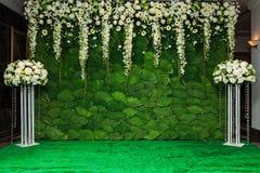 Όμορφο υπόβαθρο λουλουδιών για το γάμο στοκ εικόνες