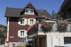 Όμορφο υπόβαθρο της Ελβετίας με τη χλόη και Στοκ φωτογραφία με δικαίωμα ελεύθερης χρήσης